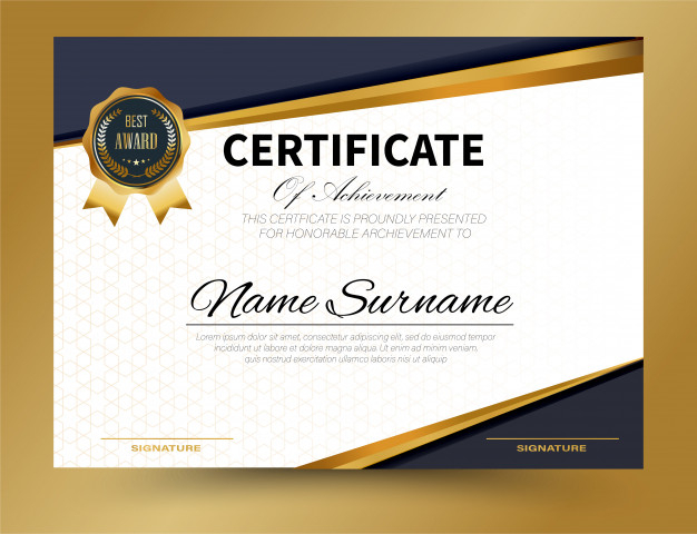 Certificate Template Size (9) - Templates Example throughout Certificate Template Size