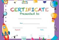 Certificate Template With School Objects – Download Free within Certificate Templates For School