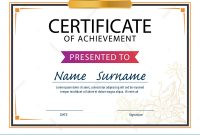 Certificate Template,diploma Layout,a4 Size Illustration regarding Certificate Template Size