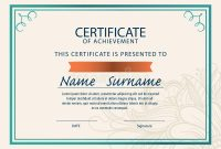 Certificate Template,diploma,a4 Size , Stock Illustration throughout Certificate Template Size