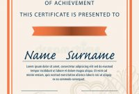 Certificate Template,diploma,a4 Size ,vector Stock Vector intended for Certificate Template Size