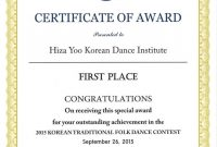 Certificate Templates: First Place Certificate Sample with regard to First Place Certificate Template