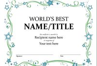 Certificates – Office with regard to Microsoft Word Award Certificate Template