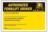 Certification Photo Wallet Cards – Authorized Forklift Driver throughout Forklift Certification Card Template