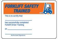 Certification Photo Wallet Cards – Forklift Safety Trained within Forklift Certification Card Template