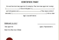 Child Adoption Certificate Template For Word | Document Hub inside Adoption Certificate Template