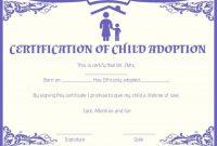 Child Adoption Certificates: 10 Free Printable And throughout Adoption Certificate Template