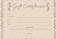 Choco Gift Certificate Template – For Word with Spa Day Gift Certificate Template