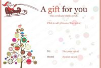 Christmas Gift Certificate Templates - Printable & Editable within Christmas Gift Certificate Template Free Download