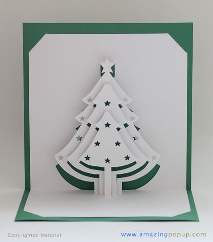 Christmas Tree Popup Card | Pop Up Christmas Cards inside 3D Christmas Tree Card Template