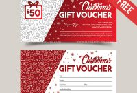 Christmas V02 – Free Gift Certificate Psd Template for Gift Certificate Template Photoshop
