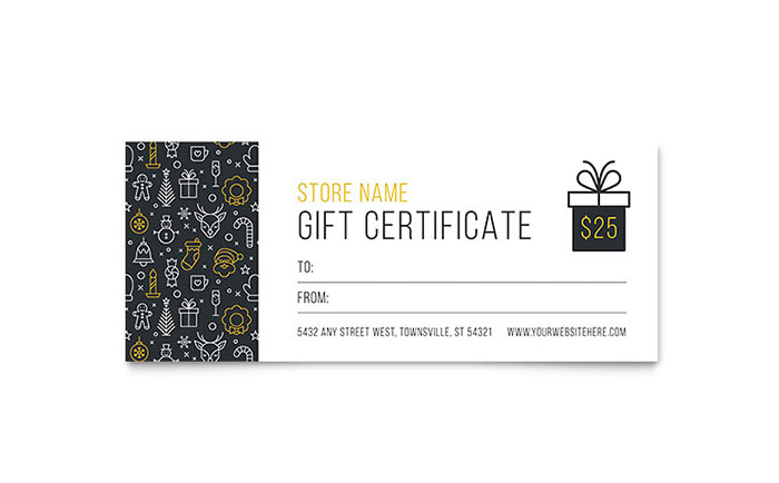 Christmas Wishes Gift Certificate Template Design intended for Gift Certificate Template Indesign