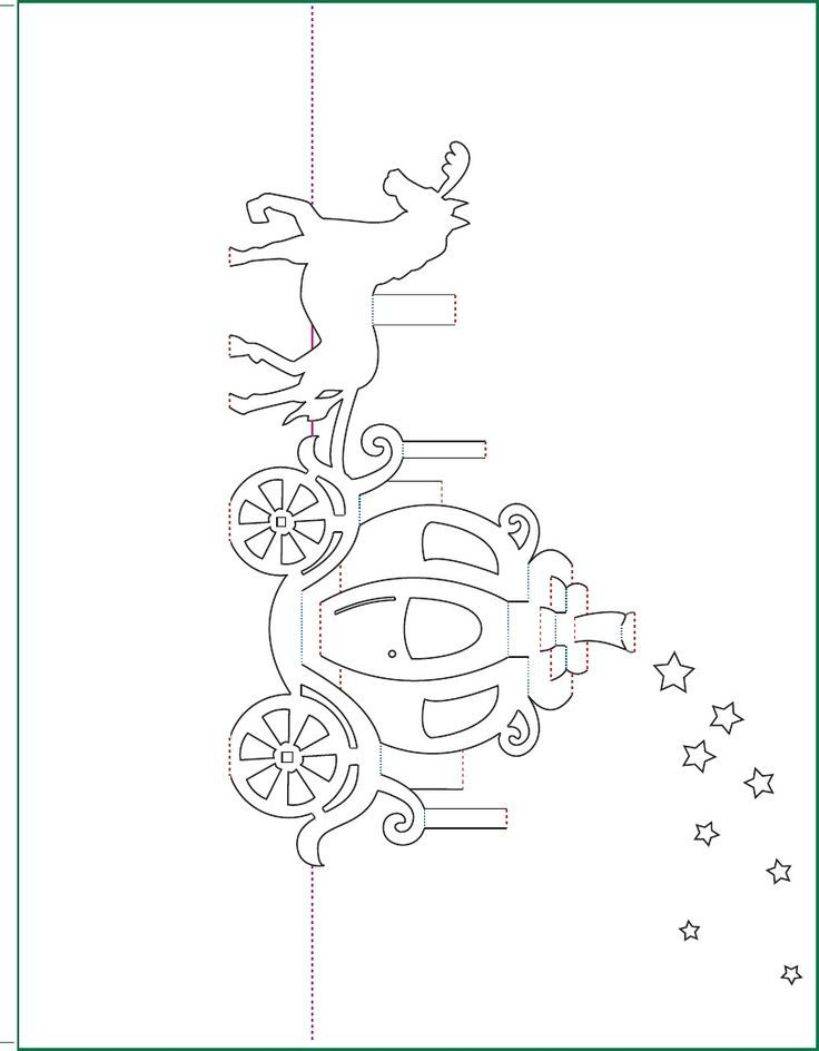 Cinderella Carriage Pop Up Card Free Paper Craft Template Within Templates For Pop Up Cards Free