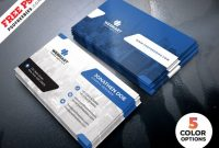 Clean Business Card Templates Psd – Free Download | Arenareviews pertaining to Template Name Card Psd