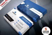 Clean Business Card Templates Psd – Free Download | Arenareviews regarding Business Card Template Photoshop Cs6