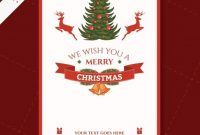 Cmyk Printable Christmas Card Template | Free Vector in Free Holiday Photo Card Templates