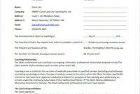 Coaching Agreements: Development & Templates – Video regarding Business Coaching Contract Template