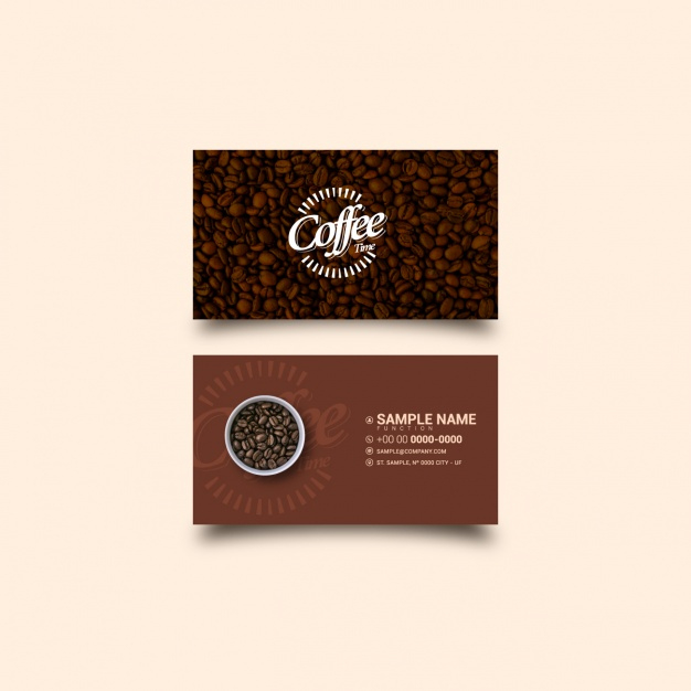 Coffee Business Card Template | Free Vector inside Coffee Business Card Template Free