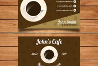 Coffee Business Card Template | Free Vector regarding Coffee Business Card Template Free