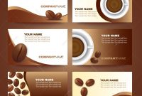 Coffee Business Card Template Vector Set Design Illustration with regard to Coffee Business Card Template Free