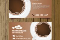 Coffee Shop Business Card Free Vector Download (27,135 Free throughout Coffee Business Card Template Free