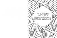 Coloring Book : Incredible Happy Birthday Card Coloringes with regard to Foldable Birthday Card Template