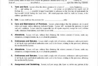 Commercial Land Lease Agreement Template1 , 11+ Simple inside Business Lease Agreement Template Free