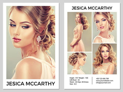 Comp Card Template Designs, Themes, Templates And Regarding Model Comp Card Template Free