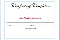 Completion Certificate Template – Microsoft Word Templates throughout Microsoft Word Certificate Templates