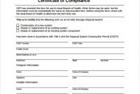 Conformity Certificate Templates – 10 Free Sample Templates For Certificate Of Disposal Template