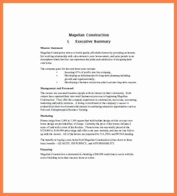 Construction Business Plan Template In 2020 | Business Plan regarding Free Construction Business Plan Template