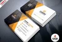 Corporate Business Card Template Psd – Free Download intended for Template Name Card Psd