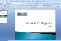 Creating A Business Intelligence Powerpoint Template intended for Business Intelligence Powerpoint Template