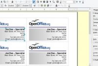 Creating Your Own Business Cards In Libreoffice And Apache inside Business Card Template Open Office