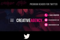 Creative Agency   Twitter Header (Psd)Retouchlab On Dribbble in Twitter Banner Template Psd