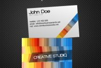 Creative Business Card Template Free Vector In Encapsulated in Business Card Template Open Office