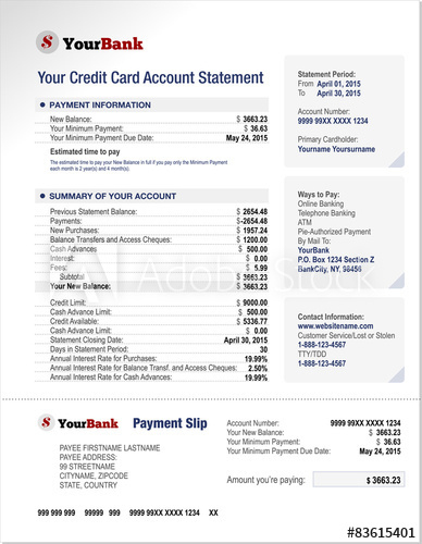 Credit Card Bank Account Statement Template – Kaufen Sie with Credit Card Statement Template