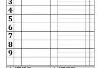 Custom High School Baseball Lineup Cards | 4-Part Lineup in Free Baseball Lineup Card Template