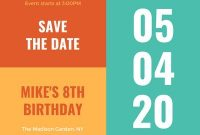 Custom Printable Save The Date Invitation Templates | Canva with Save The Date Business Event Templates