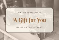 Customize 133+ Photography Gift Certificates Templates pertaining to Photoshoot Gift Certificate Template