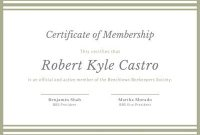 Customize 53+ Membership Certificates Templates Online – Canva pertaining to New Member Certificate Template