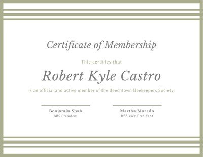 Customize 53+ Membership Certificates Templates Online - Canva pertaining to New Member Certificate Template