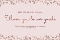 Customize 57+ Wedding Thank You Cards Templates Online – Canva inside Template For Wedding Thank You Cards