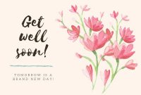 Customize 88+ Get Well Soon Cards Templates Online – Canva for Get Well Soon Card Template