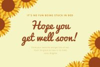 Customize 88+ Get Well Soon Cards Templates Online – Canva with regard to Get Well Soon Card Template