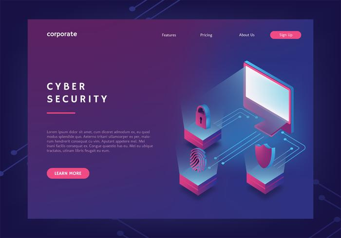 Cyber Security Web Banner Template – Download Free Vectors Throughout Free Website Banner Templates Download
