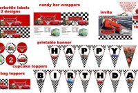 Disney Cars 2 Birthday Party Package Digital for Cars Birthday Banner Template