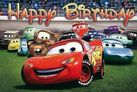 Disney Cars Birthday Bannerspecialtybanners On Etsy with regard to Cars Birthday Banner Template