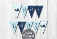 Diy Editable Yourself, Printable Banner Template, Baby throughout Diy Baby Shower Banner Template