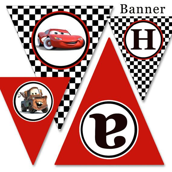 Diy Printable Cars, Cars 2 Party Happy Birthday Banner + regarding Cars Birthday Banner Template